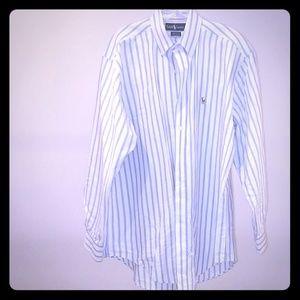 men's long sleeve button-down collar dress shirt.